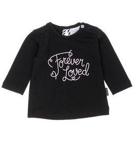 Feetje Baby shirt  'Forever the cutest'  zwart
