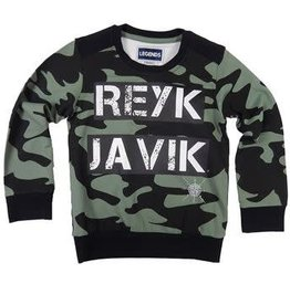 Legends22 Sweater 'Reykjavik' zwart kaki