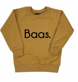 KMDB Sweater 'Baas' Okergeel