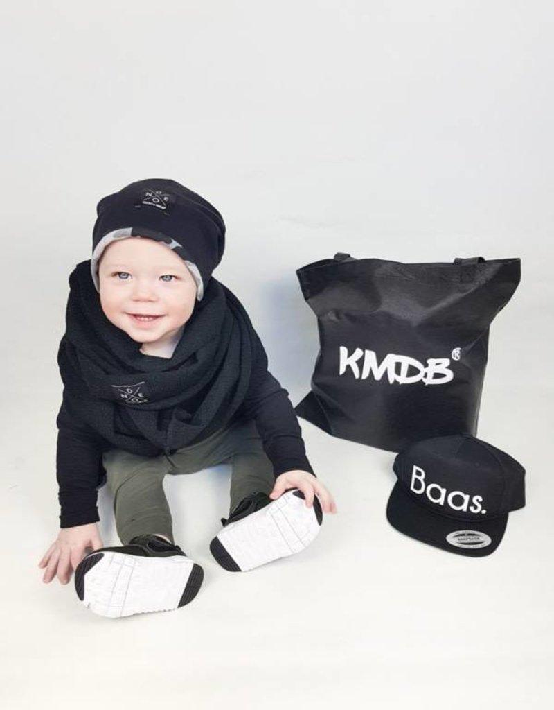 KMDB KMDB Beanie muts reversable zwart