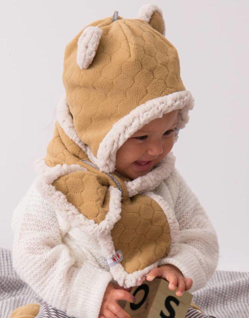 Lodger Lodger  Baby muts fleece caramel geel
