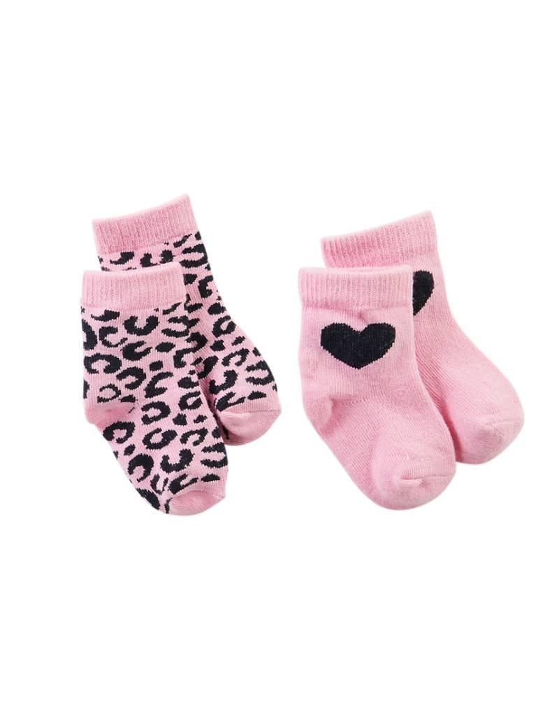 Z8 Z8 Newborn sokken 'Cloud' roze