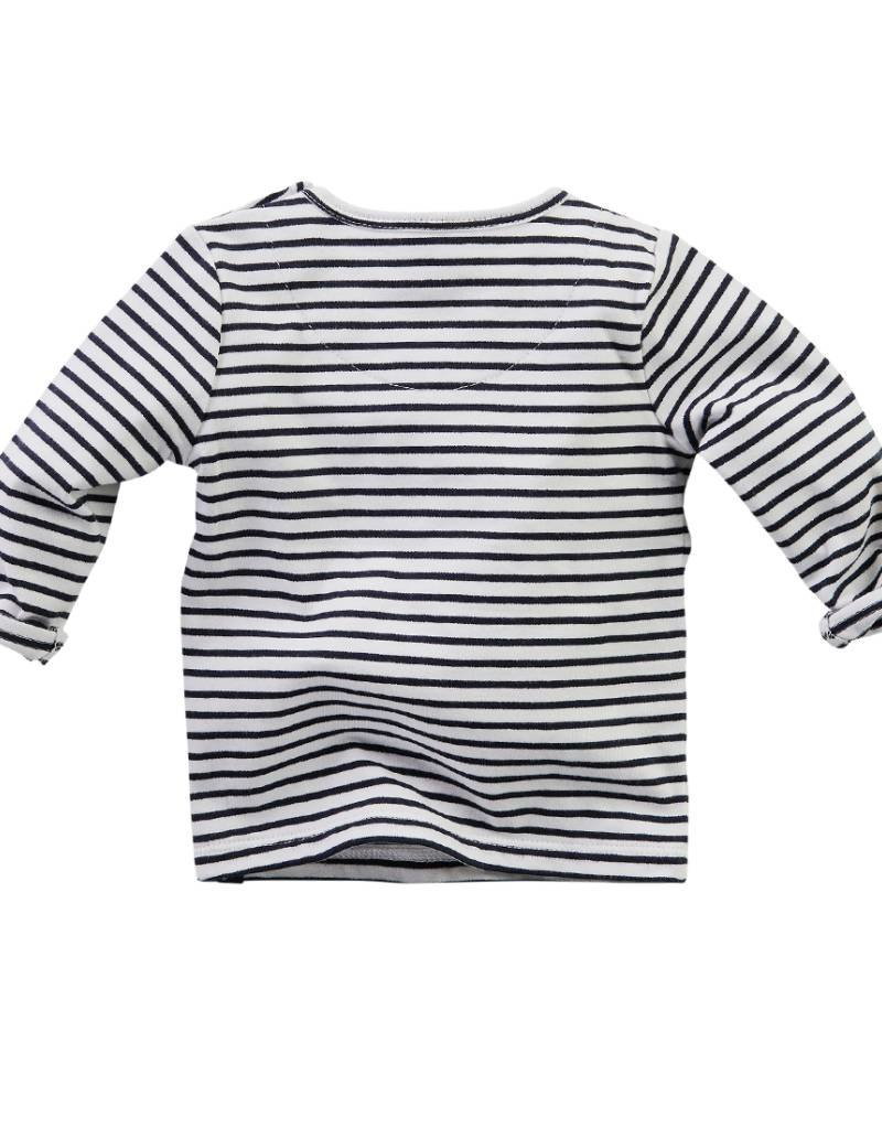 Z8 Z8 Newborn shirt 'Mars' wit/navy