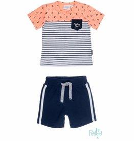 Feetje Feetje SET : shirt & short Captain Cool orange