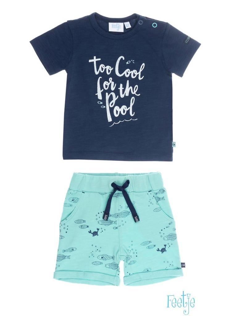 Feetje Feetje SET: Shirt & Short ocean life marine