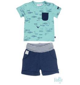 Feetje Feetje SET: short & shirt Ocean Life