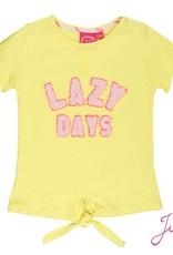 Jubel Jubel T-shirt  Lazy days La isla geel.