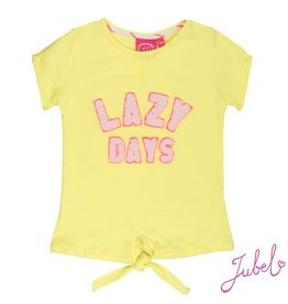 Jubel Jubel T-shirt  Lazy days La isla geel.