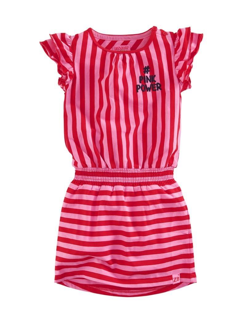 Z8 Z8 jurk Julia pink/lipstick red