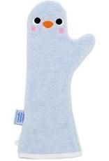 Babyshower Glove Baby shower glove penguin blauw