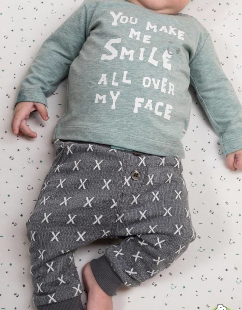 Feetje Feetje shirt You Make me Smile mint