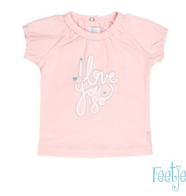Feetje Feetje shirt i love you roze