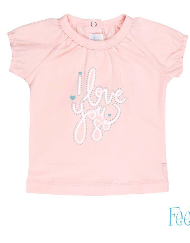 Feetje Feetje shirt i love you roze