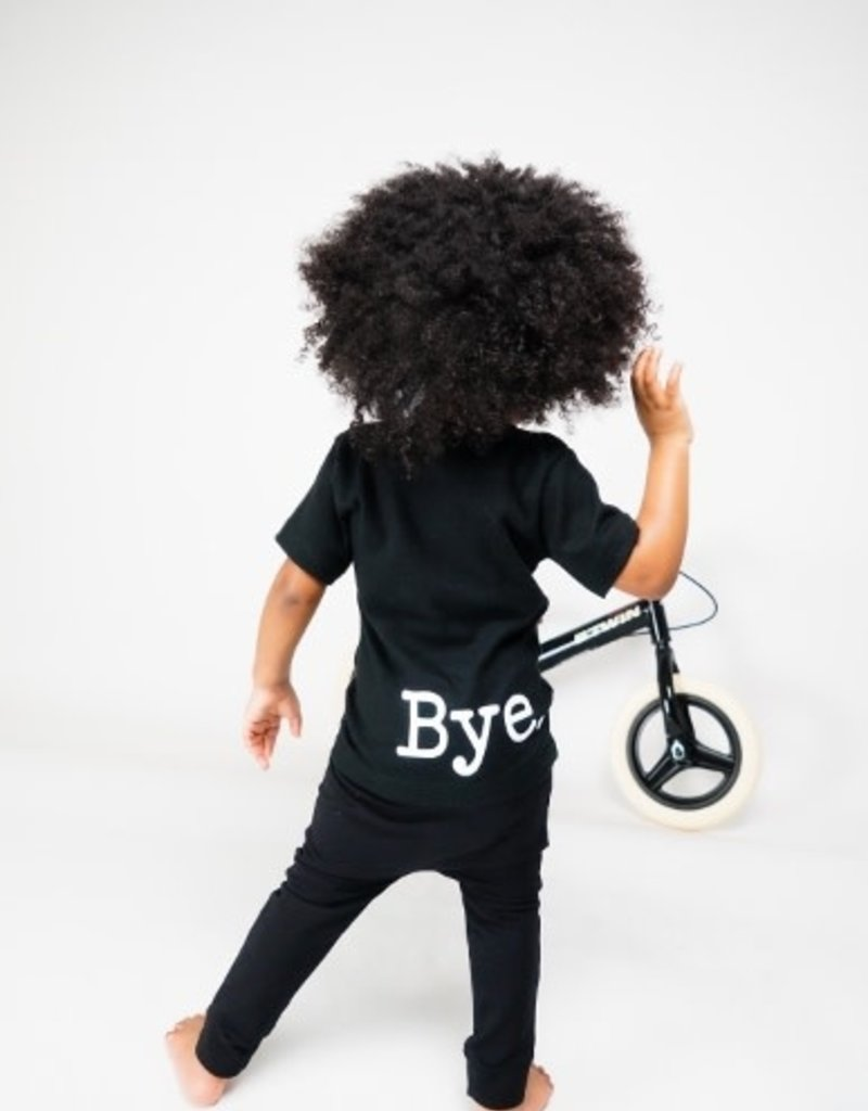 KMDB KMDB shirt Hi/Bye zwart