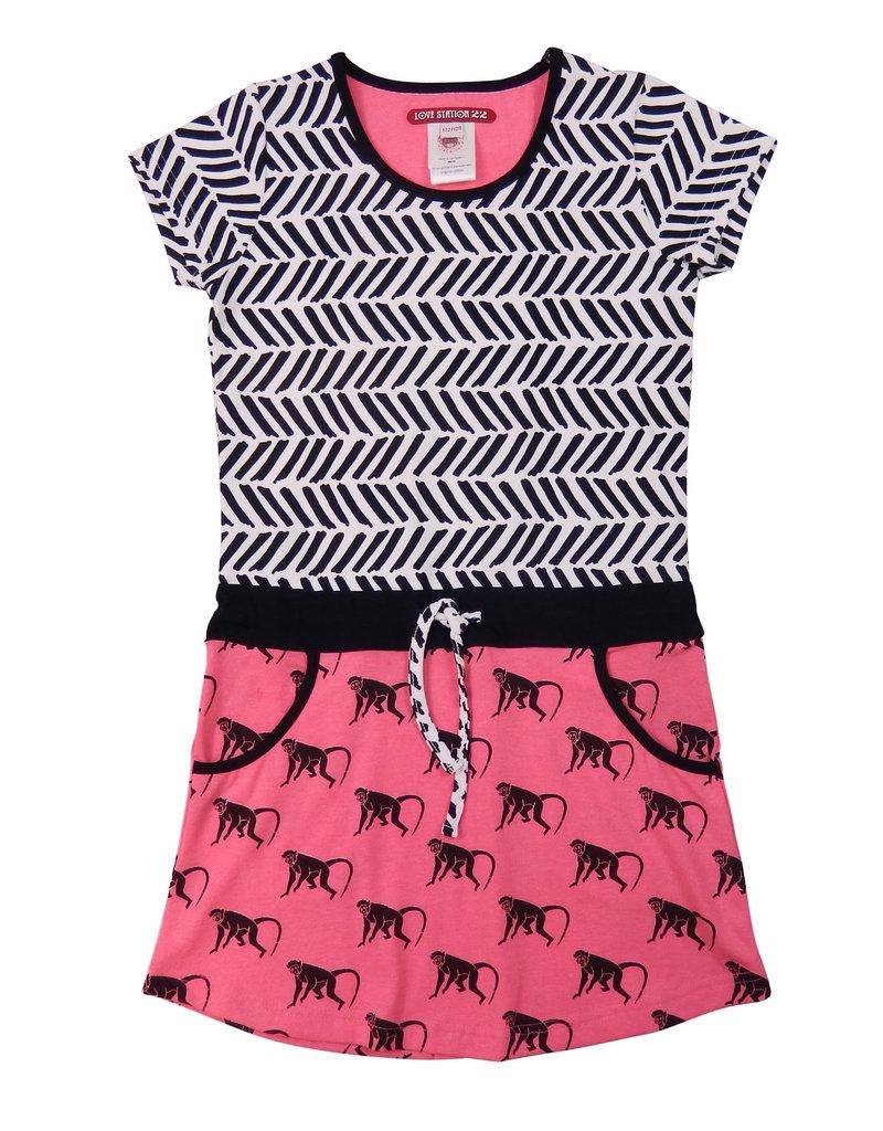 LoveStation 22 LoveStation22 jurk Noe pink