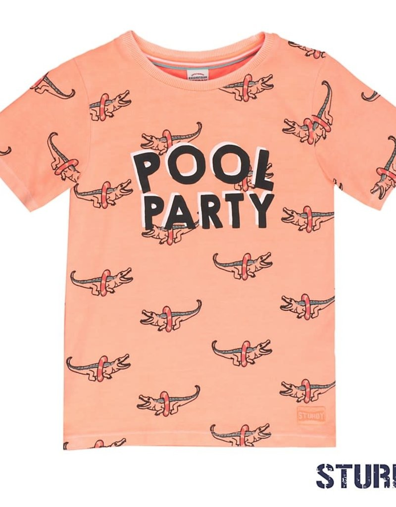 Sturdy Sturdy t-shirt pool party salmon