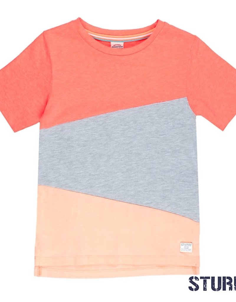 Sturdy Sturdy T-shirt Panels Pool Party neon oranje.