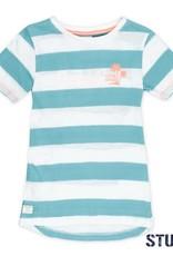 Sturdy Sturdy T-shirt streep Pool Party mint.