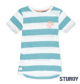 Sturdy Sturdy T-shirt streep Pool Party mint.
