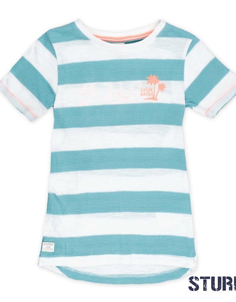 Kinderkleding Party.Sturdy T Shirt Streep Pool Party Mint Bo En Belle Kinderkleding