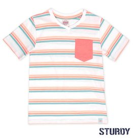 Sturdy Sturdy T-shirt streep Pool Party wit.