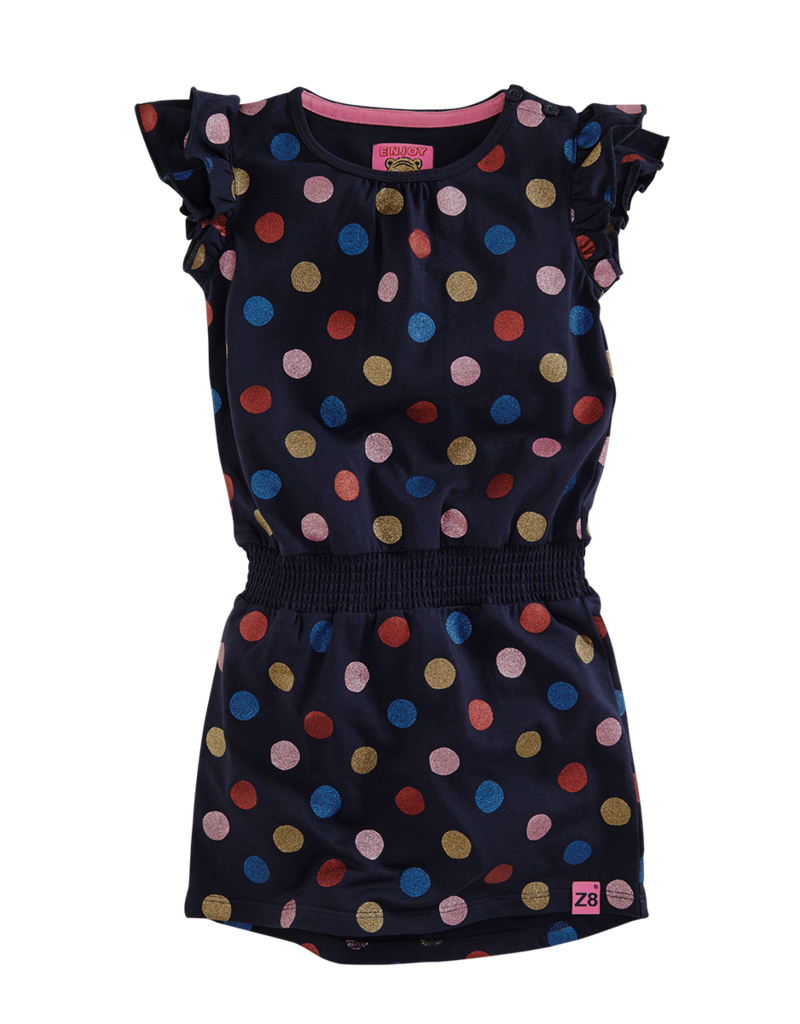 Z8 Z8 jurk Janine blue dots