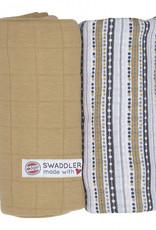 Lodger Lodger 2-pack swaddle set hydrofiel