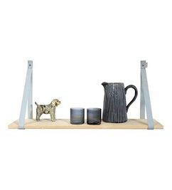 E|L by DEENS.NL Lichtgrijze Plankdragers PIEN 'Schelp'