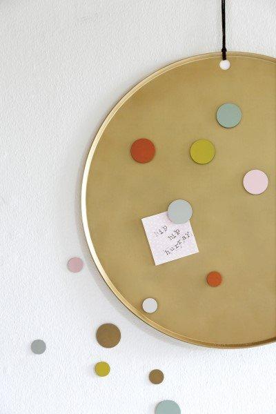 Magneetbord MARIE goud met magneten MEES