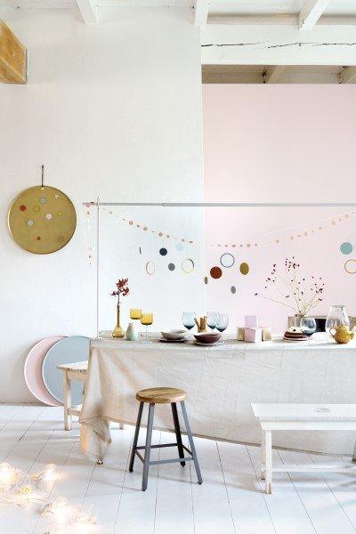 Tafelklem TOON wit met confetti KEET en magneetbord MARIE goud