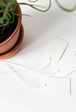 Kartonnen label wit