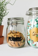 Glazen gepersonaliseerde pot
