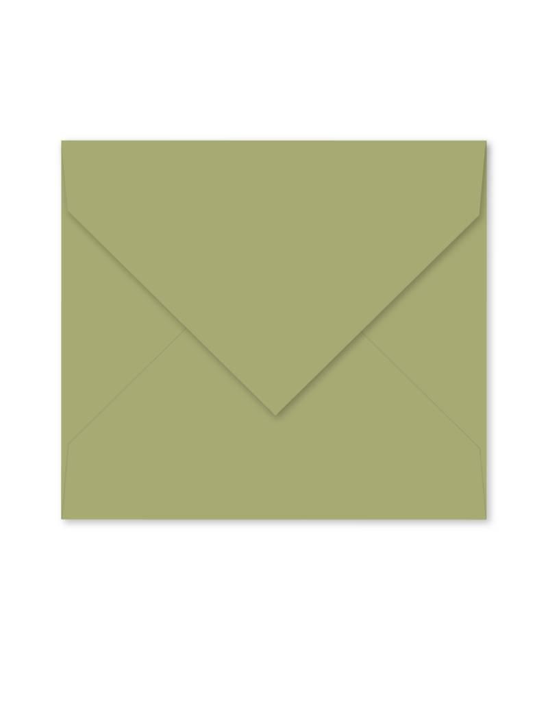 Enveloppe zijdegroen