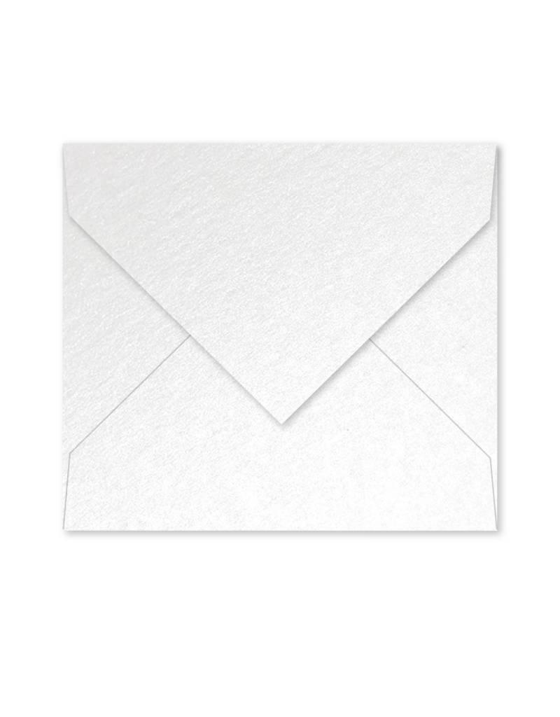 Enveloppe parelmoer wit