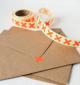 Sluitsticker kruisje • Fluo oranje