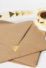 Sluitsticker driehoek goud • per 10 stuks