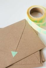 Sluitsticker driehoek mint • per 10 stuks