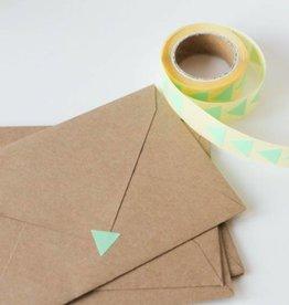 Sluitsticker driehoek • Mint