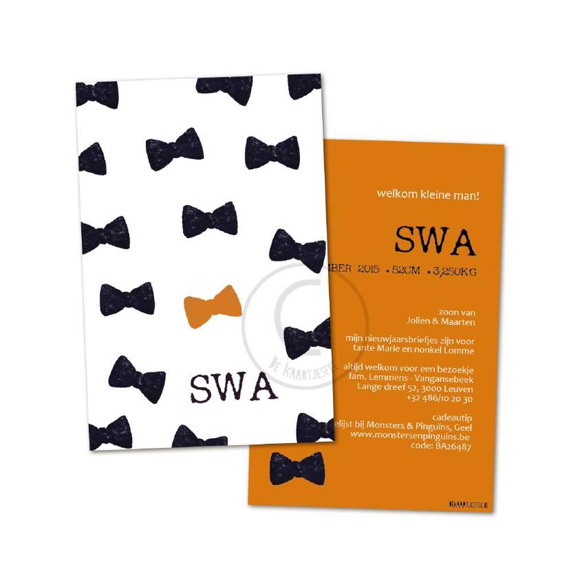 Geboortekaartje Swa