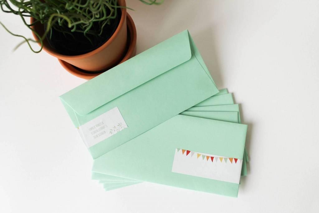 Gepersonaliseerde adresstickers