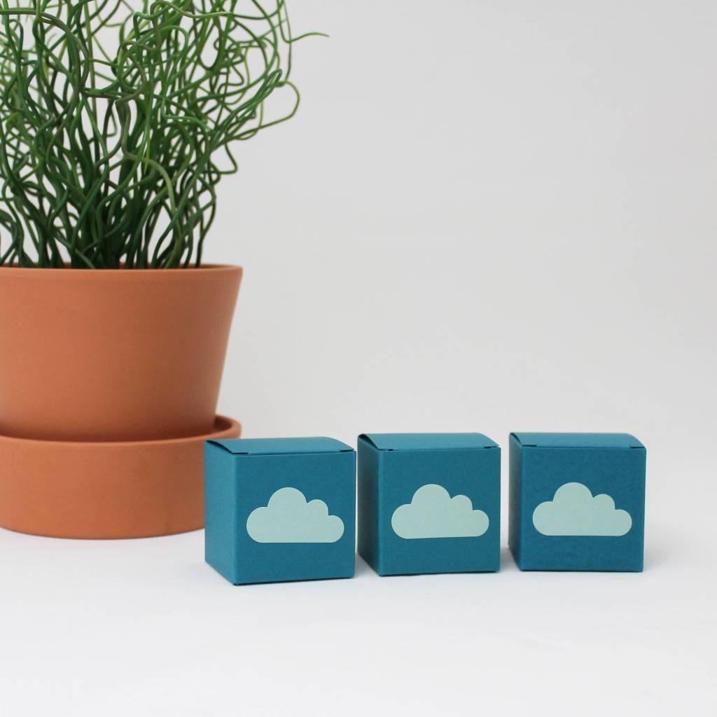Mint sluitsticker in de vorm van een wolk