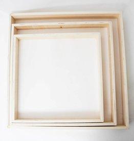 Vierkant dienblad wit