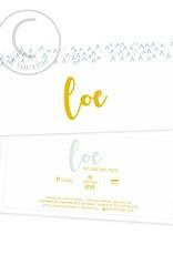 Geboortekaartje Loe
