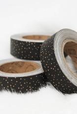 Washi zwart kraft stipjes