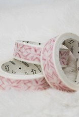 Washi roos streepjes