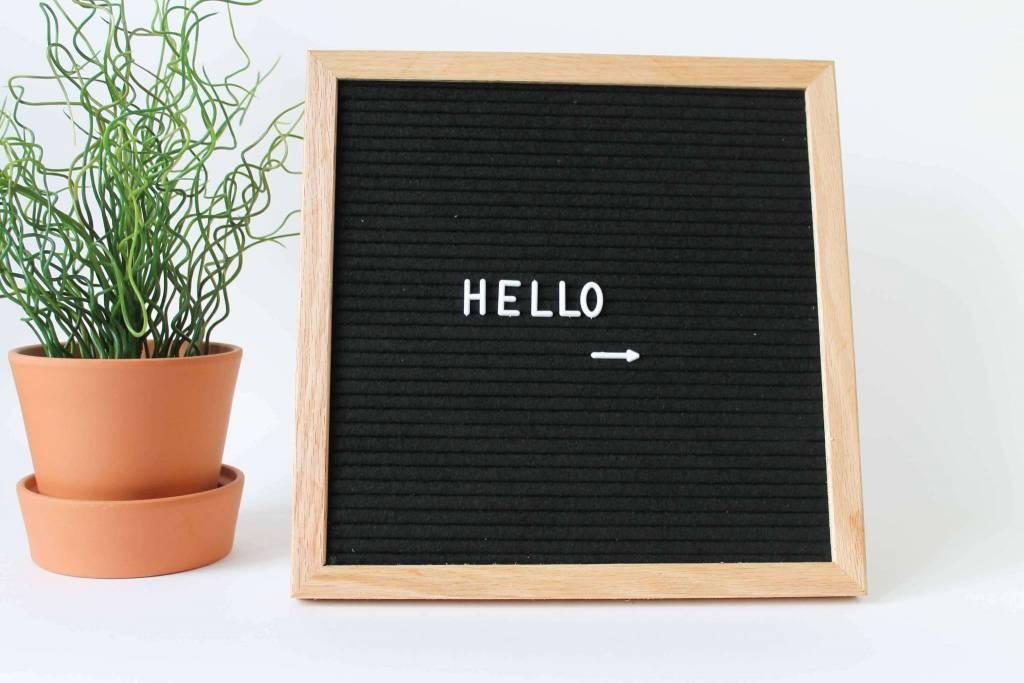 Letterbord zwart