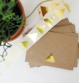 Grote sticker driehoek • Goud