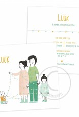 Geboortekaartje Luuk
