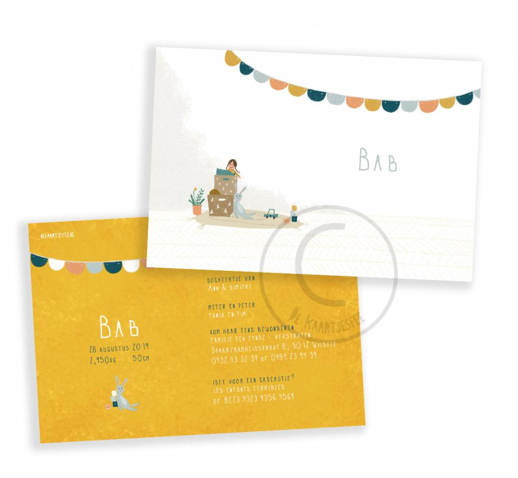 Geboortekaartje Bab