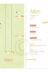 Geboortekaartje Adam of Elise